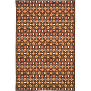 Metropolis Diamonds Brown Rug (33 x 5)