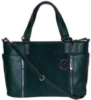 MICHAEL Michael Kors Huntergreen Leather Crosby Large