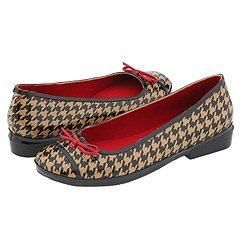 Kate Spade Kirby Camel/ Black Houndstooth Flats