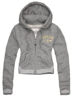 Abercrombie & Fitch Womens Sherpa Lined Full Zip Hoodie
