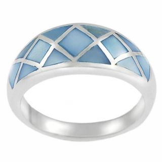Tressa Sterling Silver Blue Mother of Pearl Ring Today $45.99 4.8 (5