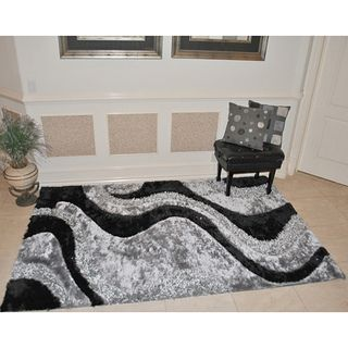 EverRouge 3D Black Area Rug (8 x 10)
