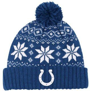 Indianapolis Colts NFL Womens Chunky Pom Cuffed Knit