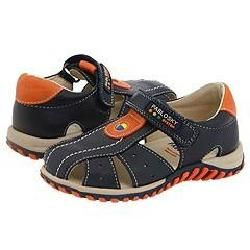 Pablosky Kids 003625 (Infant/Toddler) Navy/Orange Leather Sandals