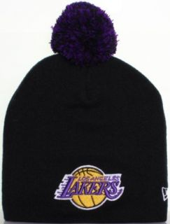 Los Angeles Lakers Basketball Pom Pom Beanie Knit Hat Cap