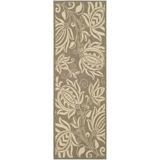 Safavieh Brown/ Natural Indoor Outdoor Rug (22 x 14)