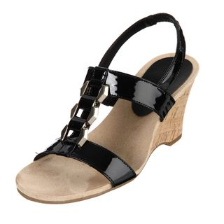 AK Anne Klein Womens Custom Black Wedges