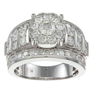 10k White Gold 2ct TDW Imperial Diamond Engagement Ring (H I, I2