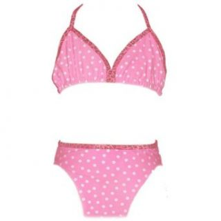New Candies Girls 3 Piece Pink Dot Bikini Swimwear 12