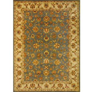 Indo Mahal Light Blue/ Ivory Rug (8 x 11)