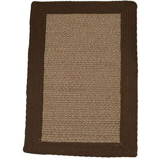 Donegal Indoor/ Outdoor Black Braided Rug (36 x 56)