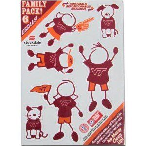 Virginia Tech Hokies Small Family Car Decal Sheet Sports