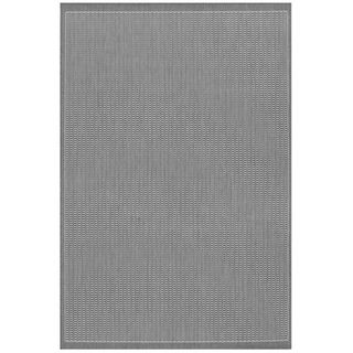 Recife Saddle Stitch Grey Rug (76 x 109)