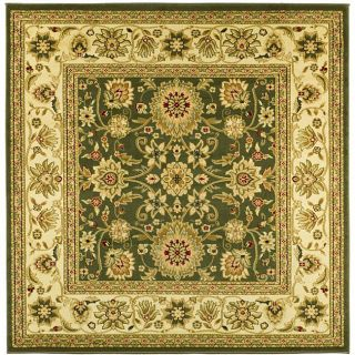 Lyndhurst Collection Majestic Sage/ Ivory Rug (6 Square)