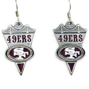 NFL Earrings   San Francisco 49ers