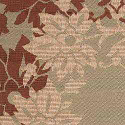 Parana Russet Floral Border Indoor/Outdoor Rug (76 x 109