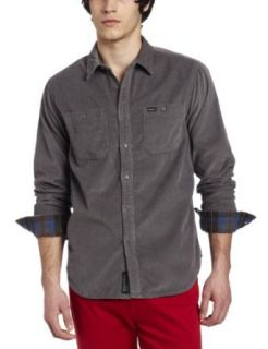 RVCA Mens Waler Long Sleeve Shirt Clothing