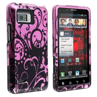 Black/ Purple Swirl Snap on Case for Motorola Droid Bionic XT875