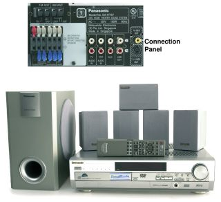 Panasonic SC HT67 5 Disc DVD Home Theater System (Refurbished