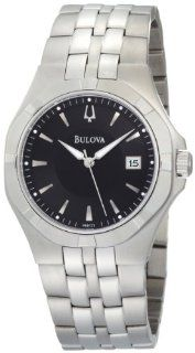 Bulova Mens 96B123 Black Dial Bracelet Watch Watches