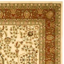 Lyndhurst Collection Oriental Ivory/ Rust Rug (8 x 11)