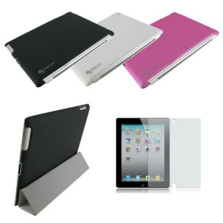rooCASE Apple iPad 2 Slim Shell Back Case with Anti glare Screen