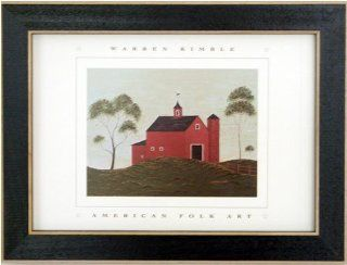 Brandon Barn Warren Kimble Folk Framed Art Picture Mini