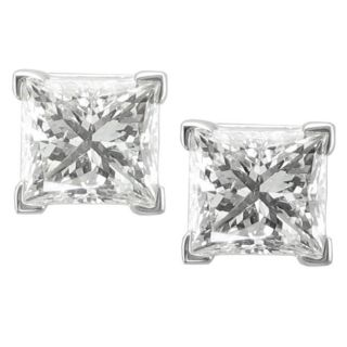 14k White Gold 2ct TDW Certified Diamond Solitaire Earrings (H I, I1