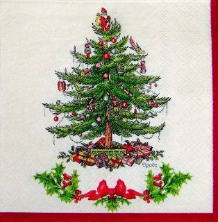 Spode Christmas Tree Paper Large Square Dinner Napkins