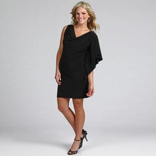 Jessica Howard Womens Beaded Drape Dress