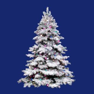 10 Pre Lit Flocked Alaskan Artificial Christmas Tree