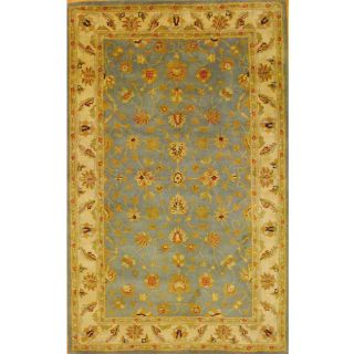 Indo Mahal Hand tufted Light Blue/ Ivory Rug (53 x 82) Today $224