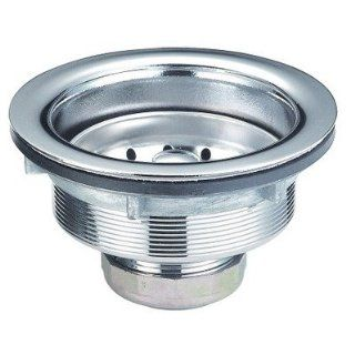 Stainless Steel Basket Strainer with Brass Nut in Brushed Nickel