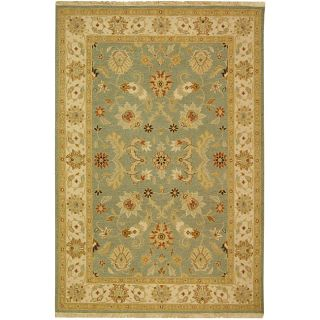 Indo Sumak Handmade Majesty Light Blue/ Beige Rug (4 x 6) Today $