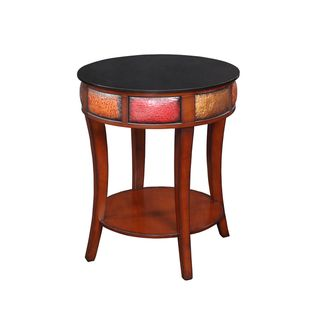 Creek Classics Hammered Metallic Round Accent Table