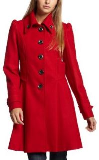 Jessica Simpson Womens Single Breasted Coat With Pleats