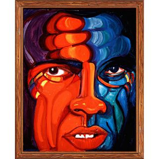 Ferdie Pacheco The Face of Ali Framed Canvas Art