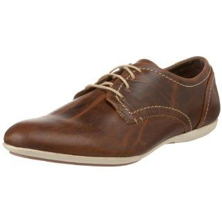 Steve Madden Mens Sapporro Lace Up Oxford,Tan Leather,8 M US Shoes