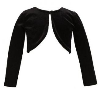 Lito Toddler Girls Black Top Velvet Bolero Button Jacket