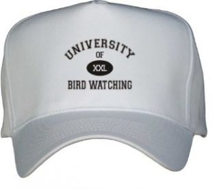 UNIVERSITY OF XXL BIRD WATCHING White Hat / Baseball Cap