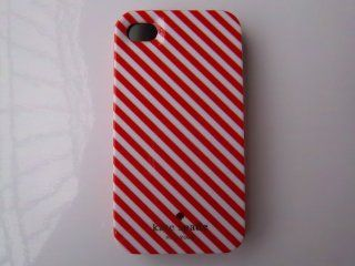 2012 NEW kate spade hard iPhone case white and red stripe