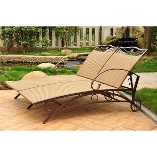 Valencia Resin Wicker/ Steel Frame Multi position Double Chaise Lounge