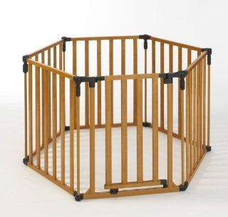 North State Industries 3 in 1 Wood Superyard Gate Baby