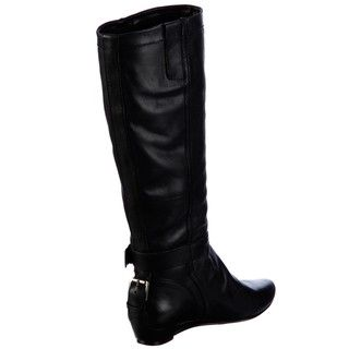 Nine West Womens Breyona Black Leather Boots FINAL SALE