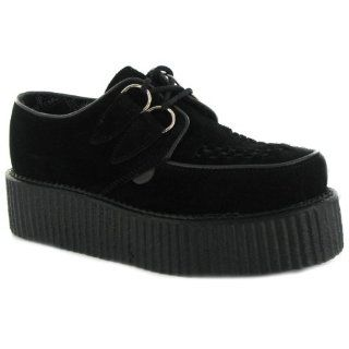 Creepers Double Sole Black Suede Mens Shoes Size 9 UK Shoes