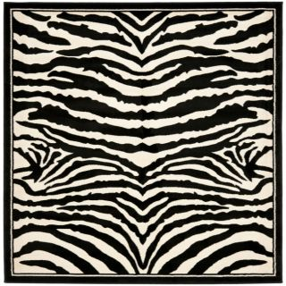 Lyndhurst Collection Zebra Black/ White Rug (7 Square) Today $159.89