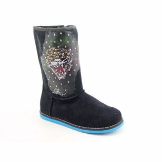 Ed Hardy Kids Bootstrap 100 Youth Kids Girls Black Boots Winter Shoes
