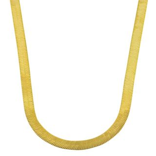 10k Two tone Gold Reversible Herringbone Necklace