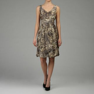 Lafayette 148 Womens Blurred Leopard Print Dress