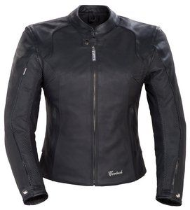 LNX WOMENS LEATHER MOTORCYCLE JACKET BLACK SIZEMED